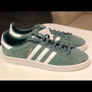 Adidas Originals Campus Green White Shoes B37822